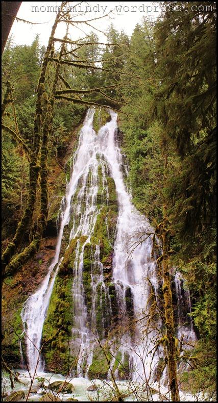 Boulder Creek waterfall panorama