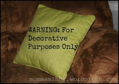Pillow with Text from Snipping Tool