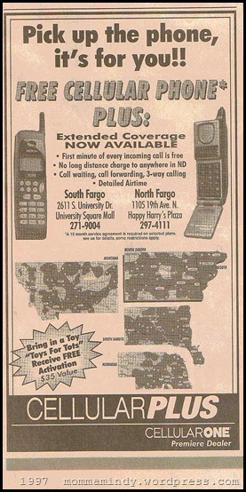 1997 cell phone ad