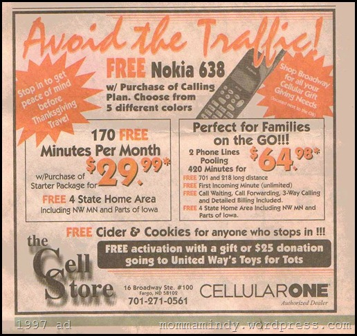 1997 Cell Phone Plan