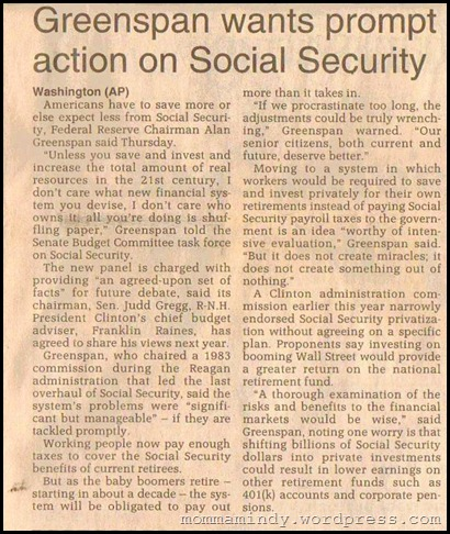 1997 Greenspan and Social Security