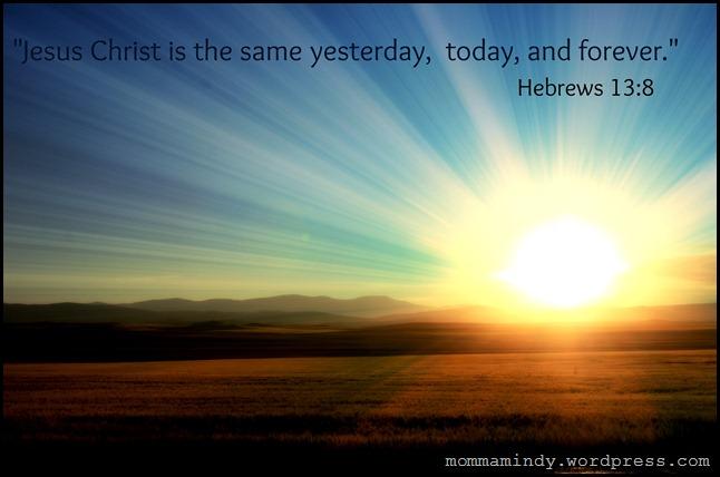 Hebrews 13 v 8 third