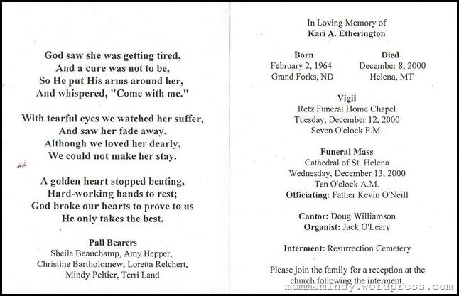Kari's Funeral Brochure